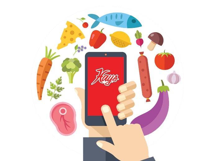 Hays phone app graphic.