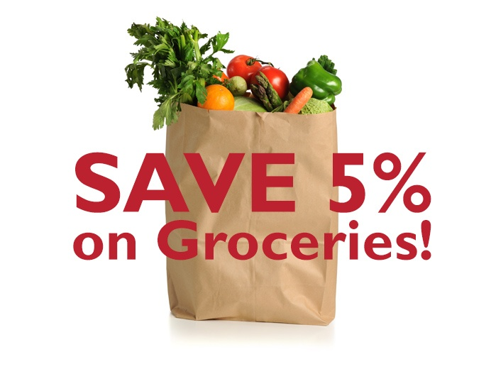 Save 5% on groceries!