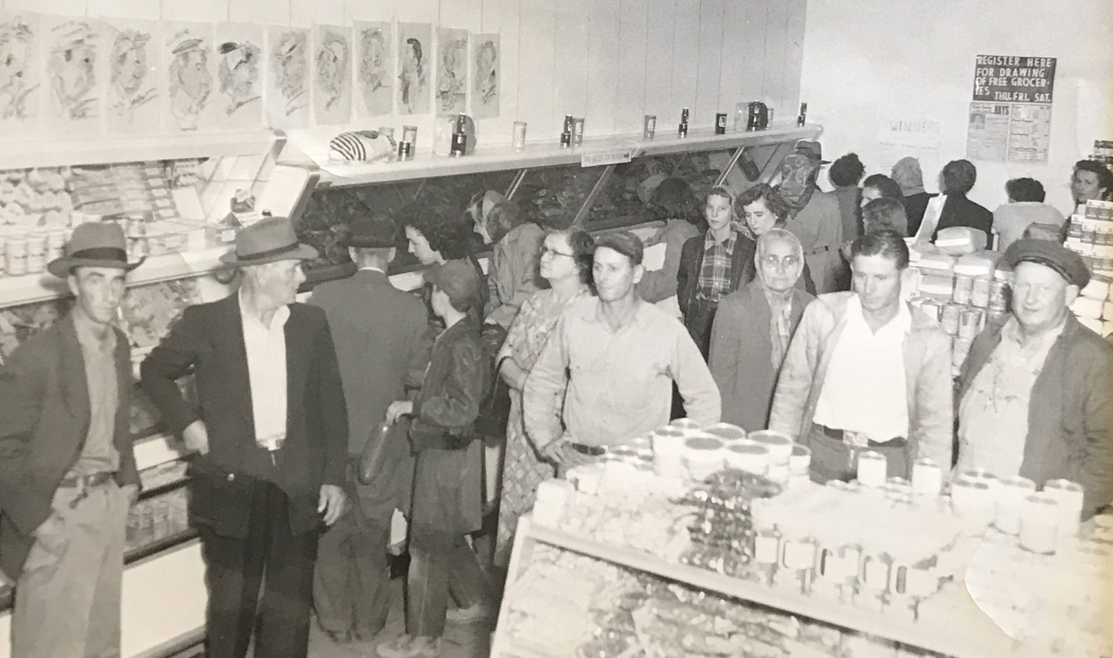 Vintage photo of Hays store and customers.