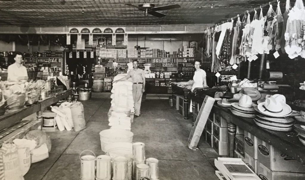 Vintage photo of Hays store and employees.