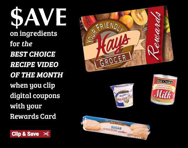 SAVE on ingredients for the Best Choice Recipe Video of the month when you clip digital coupons with your Rewards Card >