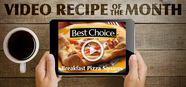 Best Choice Recipe Video: Breakfast Pizza Squares