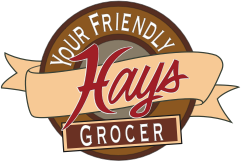 A theme footer logo of Hays Supermarket