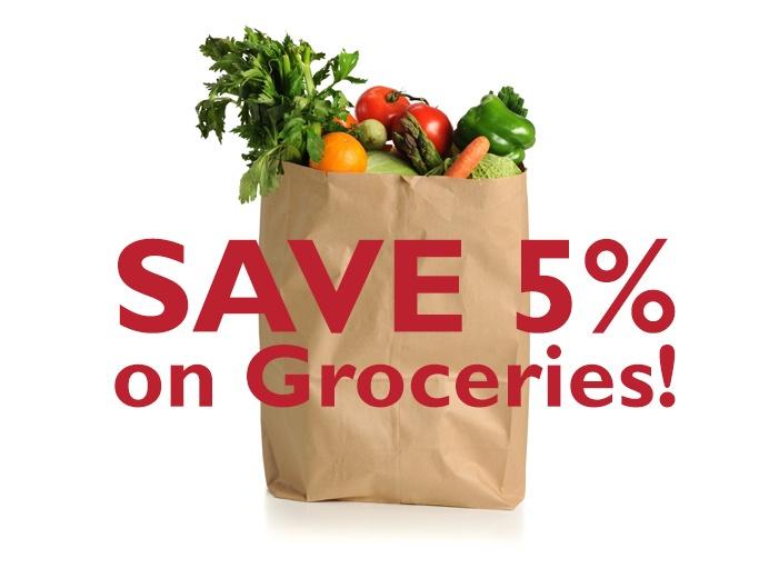 Save 5% on groceries!