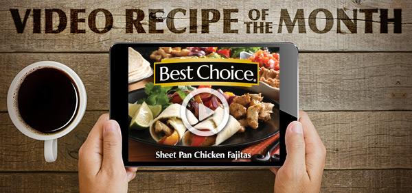 Best Choice Video of the Month: Sheet Pan Chicken Fajitas